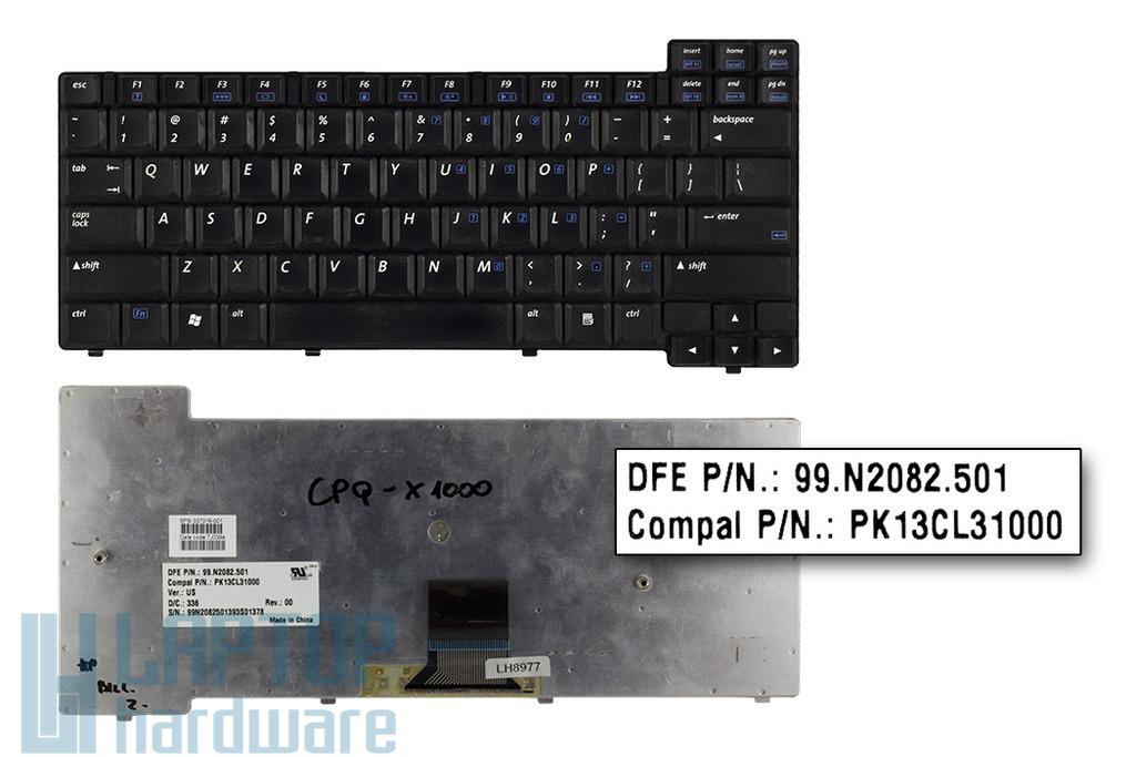 Compaq Presario X1000, Compaq nx7000, nx7010, HP Pavilion zt3000 használt US angol laptop billentyűzet (337016-001)