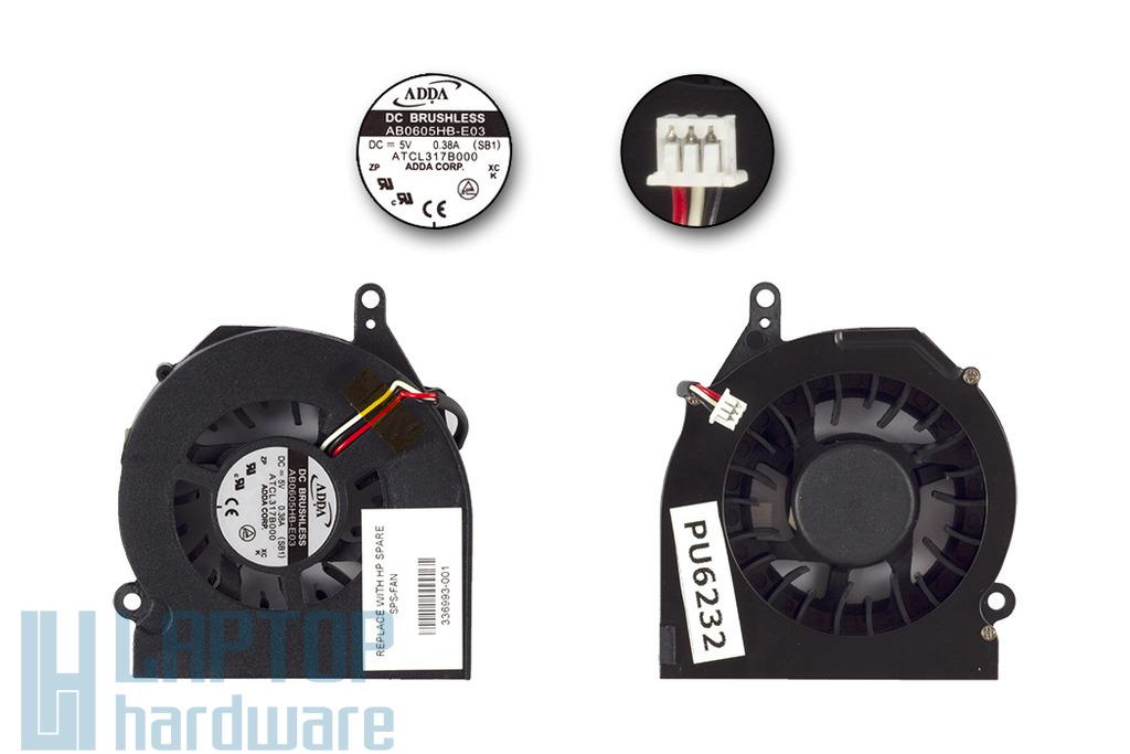 Compaq Presario X1000, HP Compaq nx7000 gyári új laptop hűtő ventilátor (ADDA 336993-001)