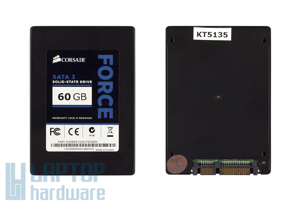 Corsair Force SATA3 60GB használt SSD meghajtó, CSSD-F60GB3A
