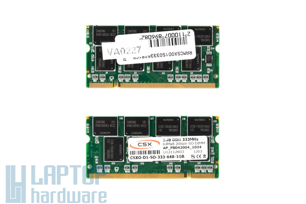 1GB DDR 333MHz gyári új laptop memória