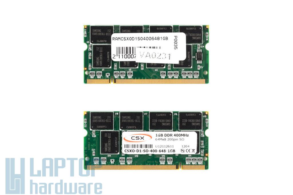 1GB DDR 400MHz gyári új laptop memória