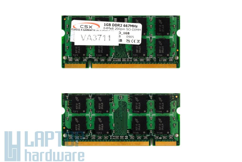 1GB DDR2 667MHz gyári új laptop memória memória