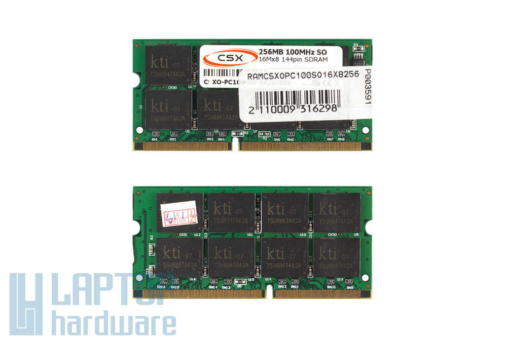CSX 256MB SDRAM 100MHz 16Mx8 gyári új laptop memória