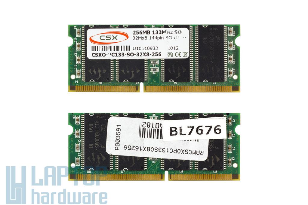CSX 256MB SDRAM 133MHz 32Mx8 gyári új laptop memória