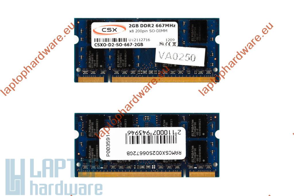 2GB DDR2 667MHz gyári új laptop memória