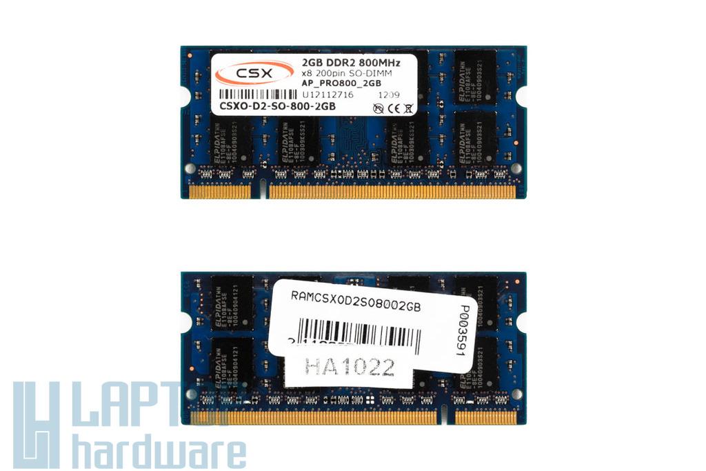 2GB DDR2 800MHz gyári új laptop memória