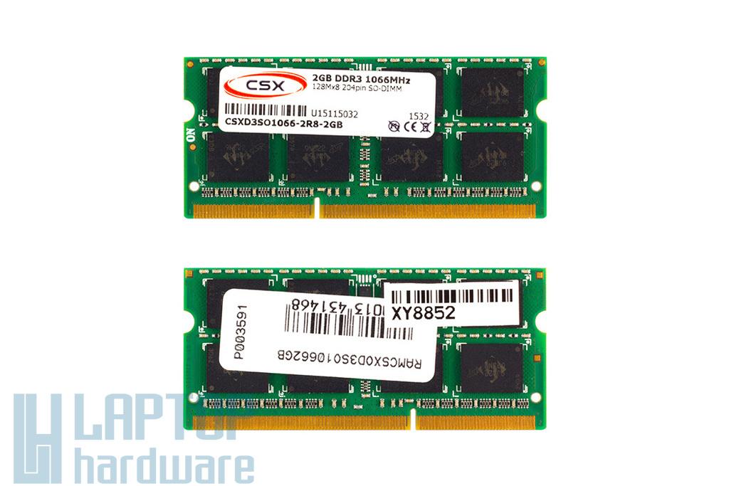 2GB DDR3 1066MHz gyári új laptop memória