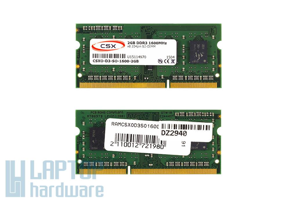 2GB DDR3 1600MHz gyári új laptop memória