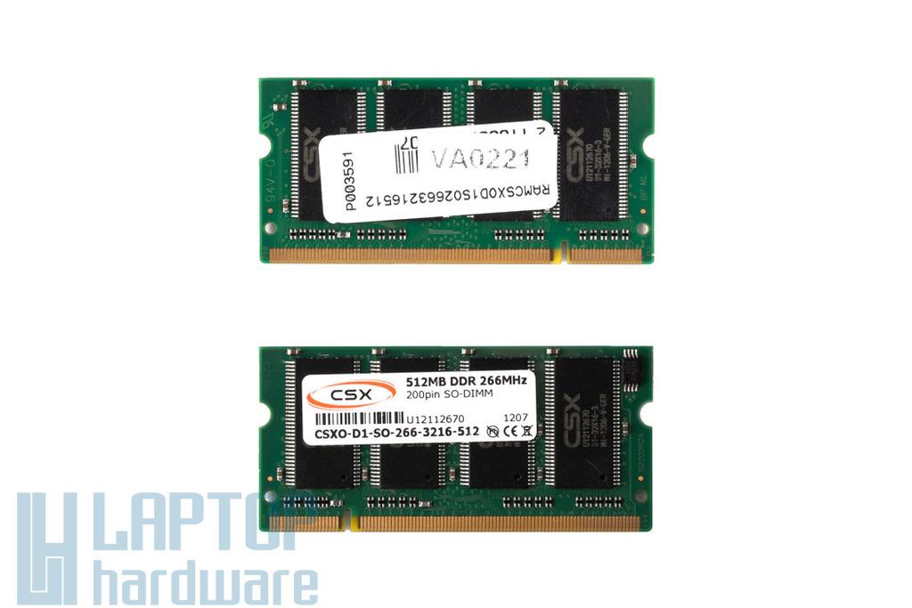 512MB DDR 266MHz gyári új laptop memória