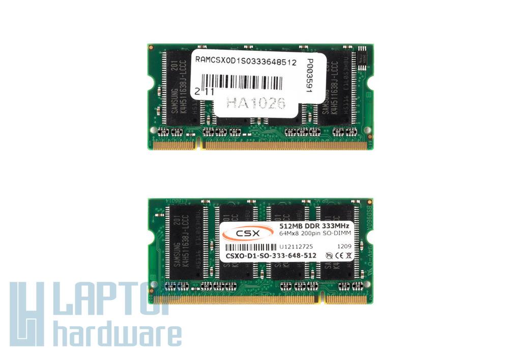 512MB DDR 333MHz gyári új laptop memória