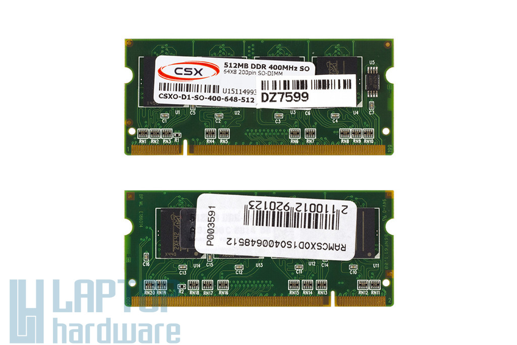 512MB DDR 400MHz gyári új laptop memória