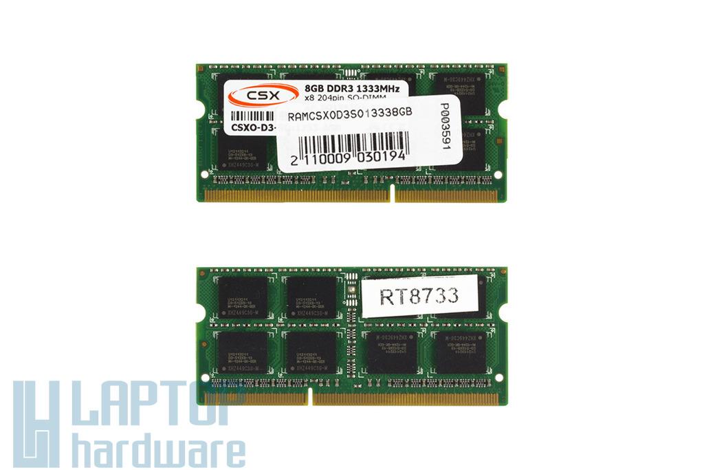 8GB DDR3 1333MHz gyári új laptop memória