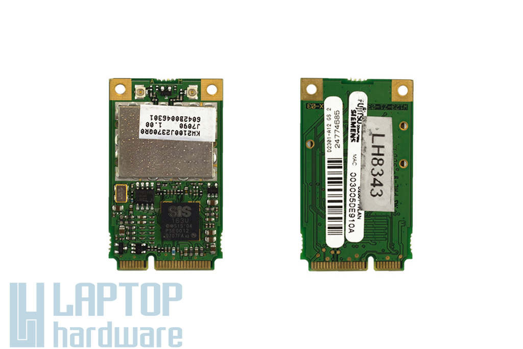 D2301-A12 GS (SIS 163U) használt Mini PCI-e WiFi kártya Fujitsu-Siemens laptophoz