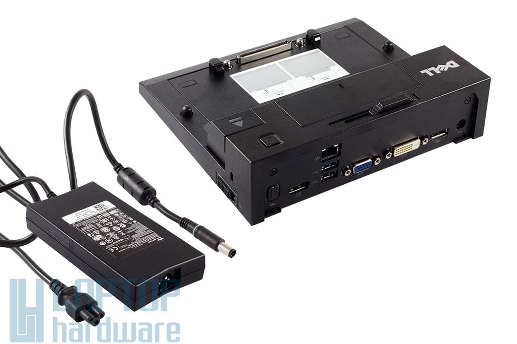Dell E-port II gyári új dokkoló, 2db USB 3.0 porttal és 130W-os Dell töltővel  (0665MJ, 0CPGHK)