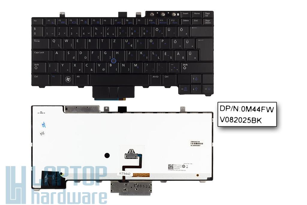 Dell E5400, E6400 használt magyar LED háttér-világításos laptop billentyűzet (0M44FW)