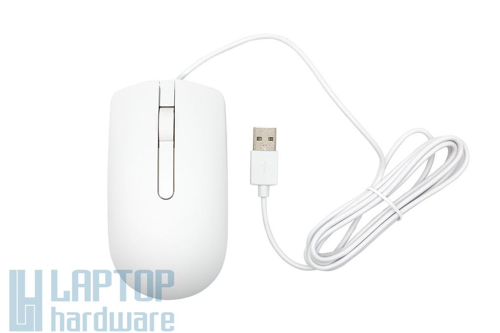 Dell fehér optikai USB egér (0YFRXV, MS116p)