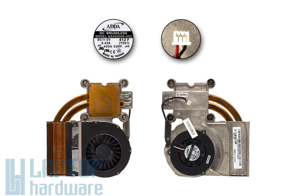 Dell Inspiron 1150 használt komplett laptop hűtő ventilátor egység (ATDW007L100)
