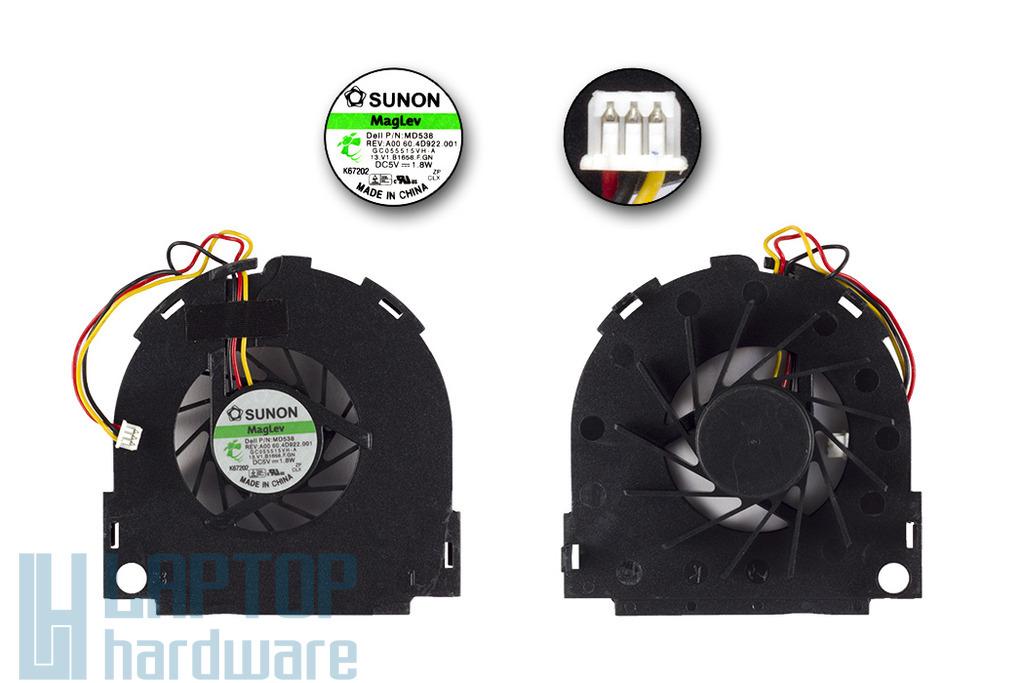 Dell Inspiron 1300, B120, B130 gyári új laptop hűtő ventilátor, 0MD538