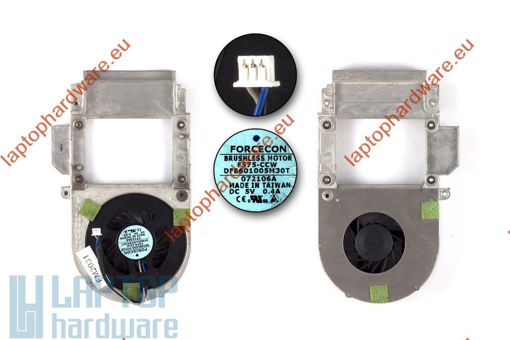 Dell Inspiron 1300, B120, B130 használt komplett laptop hűtő ventilátor egység (MD538)