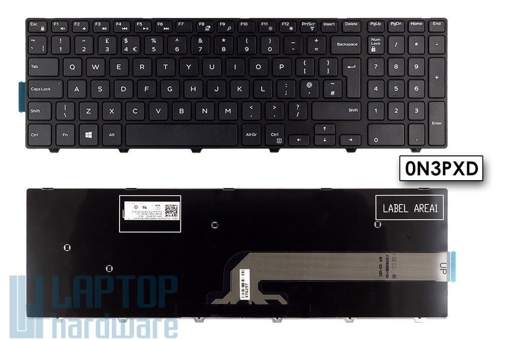 Dell Inspiron 15 3541, 3542 gyári új fekete UK angol laptop billentyűzet (0N3PXD)