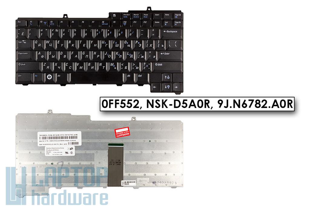 Dell Inspiron 1501, 6400, 9400 gyári új orosz laptop billentyűzet, 0FF552