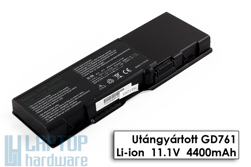 Dell Inspiron 1501, 1505, 6400 helyettesítő új 6 cellás laptop akku/akkumulátor (GD761)