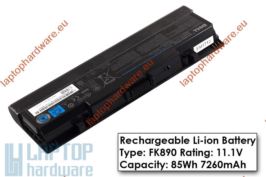 Dell Inspiron 1520, 1720, Vostro 1700 használt gyári 80%-os 9 cellás laptop akku/akkumulátor  TYPE FK890, UW280