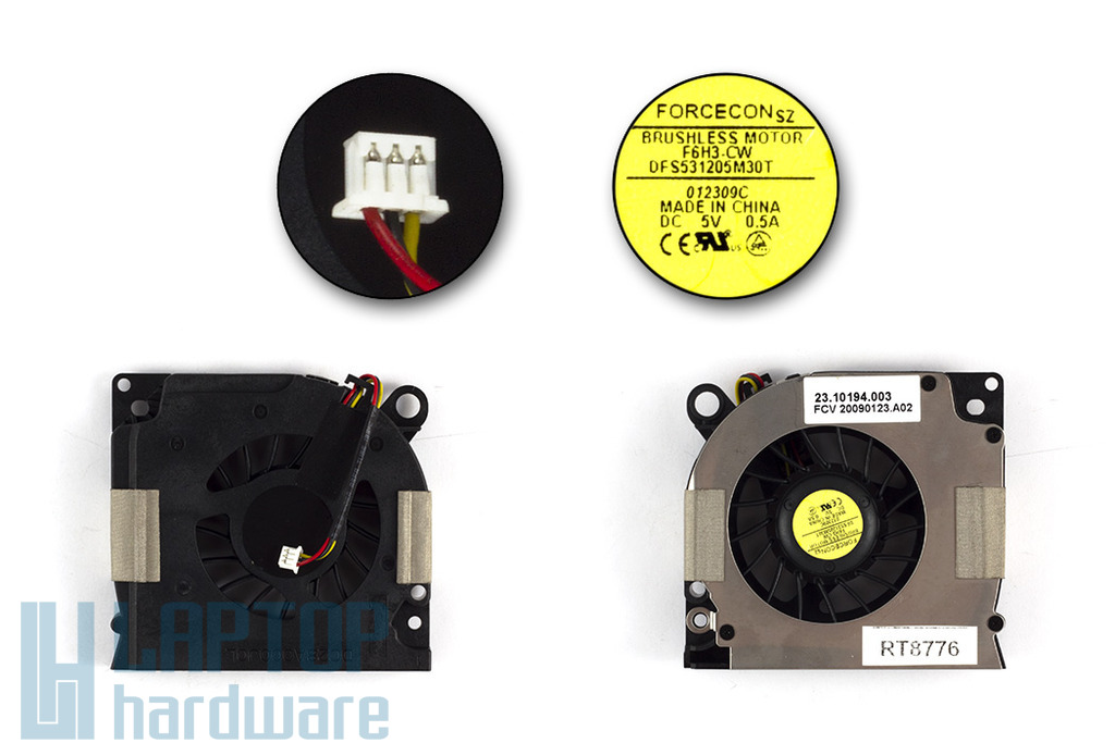 Dell Inspiron 1525, 1526, Latitude D620, D630 gyári új laptop hűtő ventilátor (23.10194.003)
