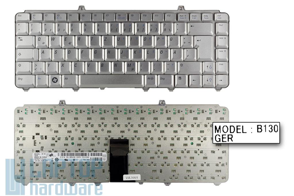 Dell Inspiron 1525, 1526, XPS M1330 használt német ezüst laptop billentyűzet (0RN128)
