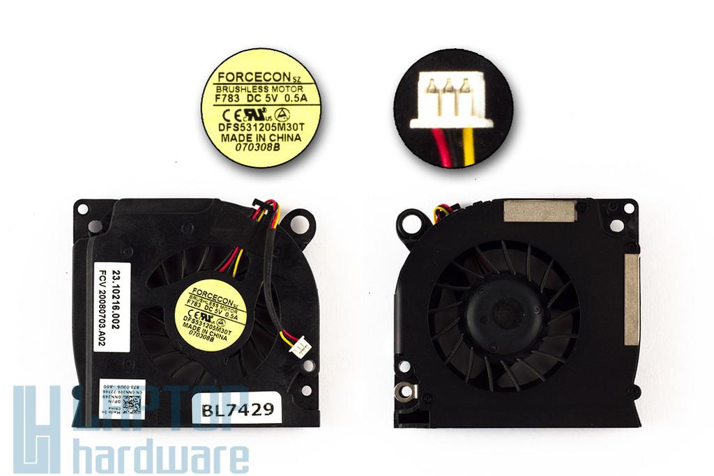 Dell Inspiron 1525, 1545, Latitude D620, D630 laptop hűtő ventilátor 0NN249, DFS531205M30T