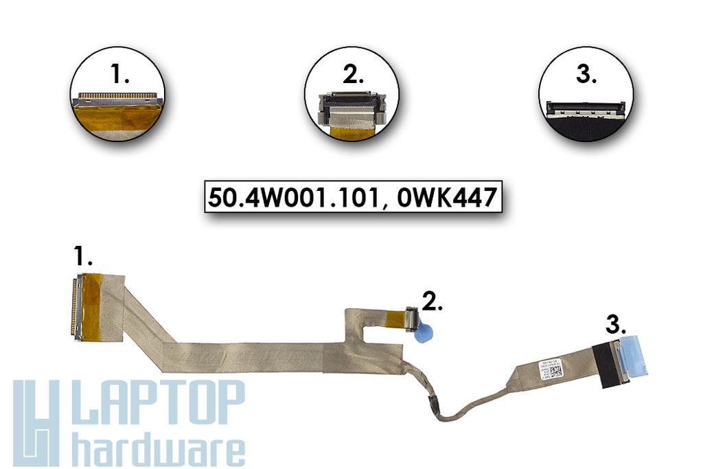 Dell Inspiron 1525,1526, Vostro 500 laptophoz használt LCD  kábel, 50.4w001.101, 0WK447
