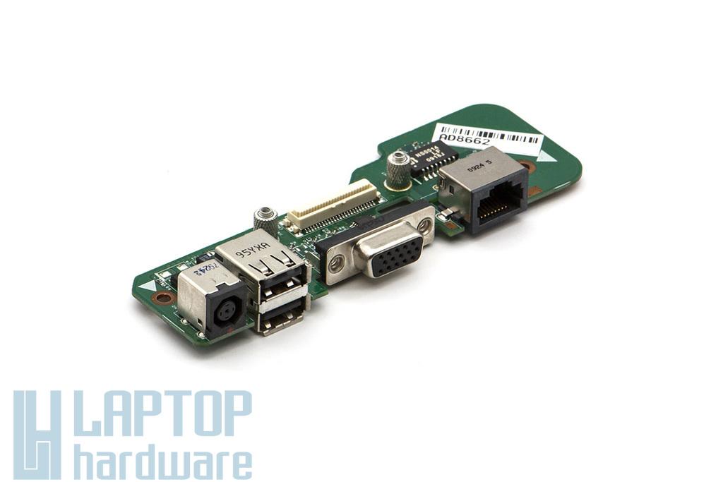 Dell Inspiron 1545 laptophoz használt octagonal DC, LAN, VGA, 2x USB panel, 48.4AQ03.021, 4AQ03