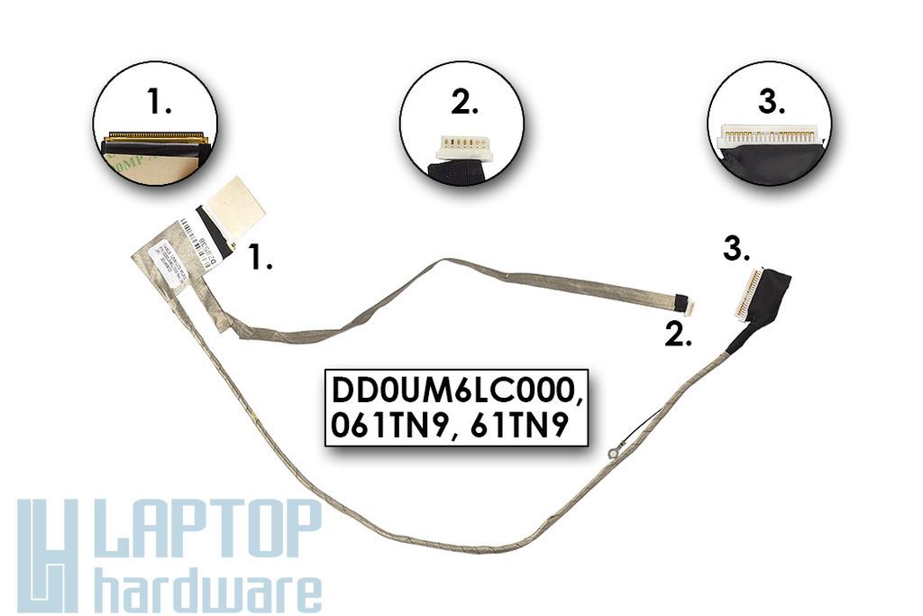 Dell Inspiron 1564 laptophoz gyári új LCD kijelző kábel, 061TN9