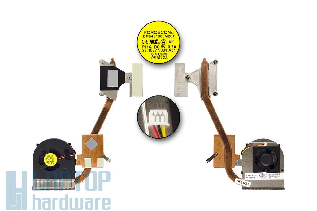 Dell Inspiron 15R, N5010, M5010 használt komplett laptop hűtőegység (0NC4TX)