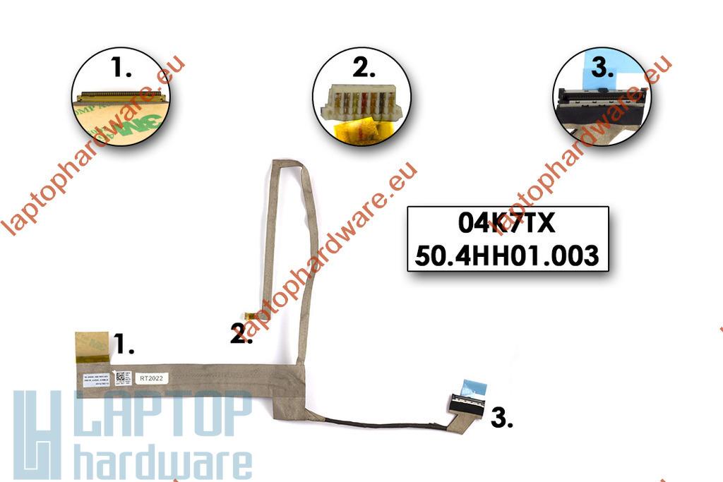 Dell Inspiron 15R, N5010, M5010 használt laptop kijelző kábel (04K7TX)