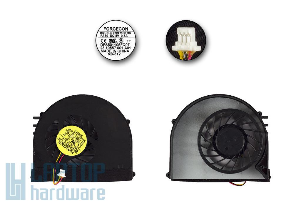 Dell Inspiron 15R N5110 gyári új laptop hűtő ventilátor, DFS501105FQ0T