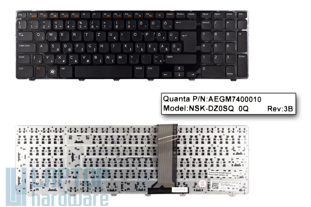 Dell Inspiron 17R, N7110, XPS 17, L702 gyári új magyar laptop billentyűzet, 0R9H4H