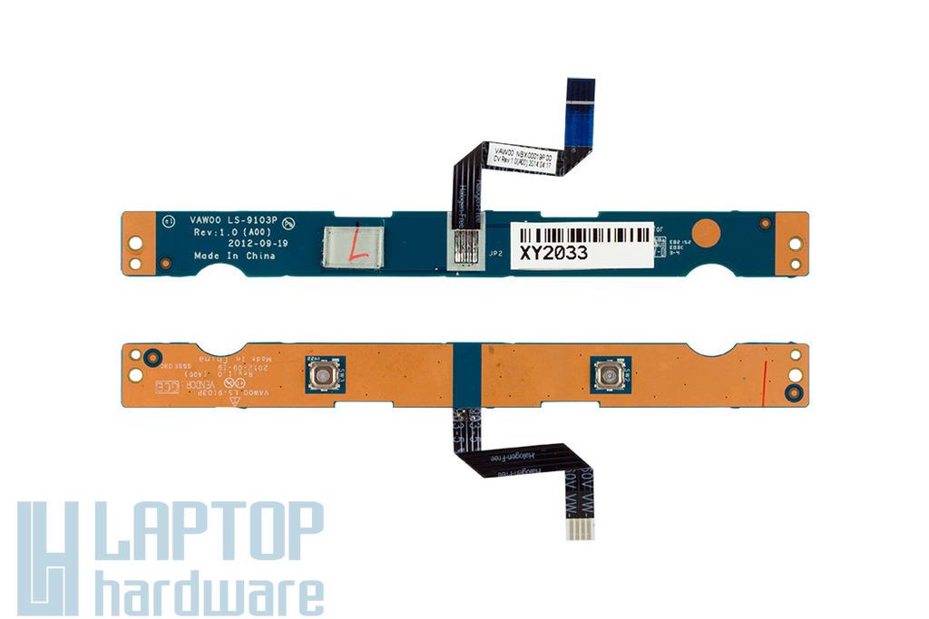 Dell Inspiron 3521, 5521, 3537 laptophoz használt touchpad gomb panel (LS-9103P)