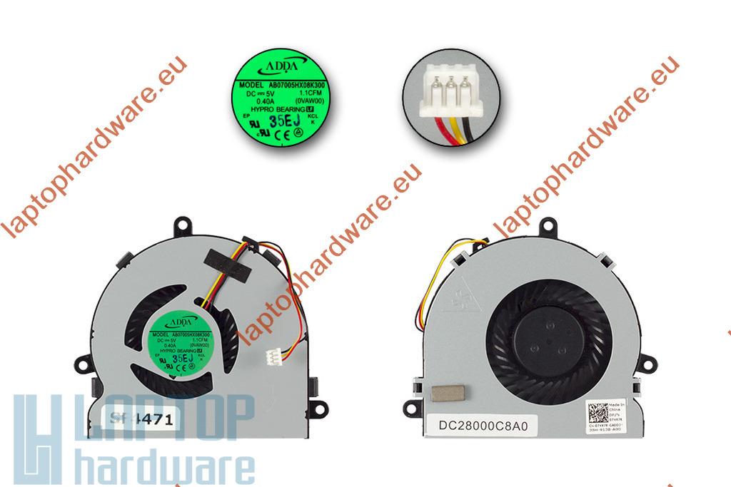 Dell Inspiron 3521, 5521, 5721 használt laptop hűtő ventilátor (074X7K)