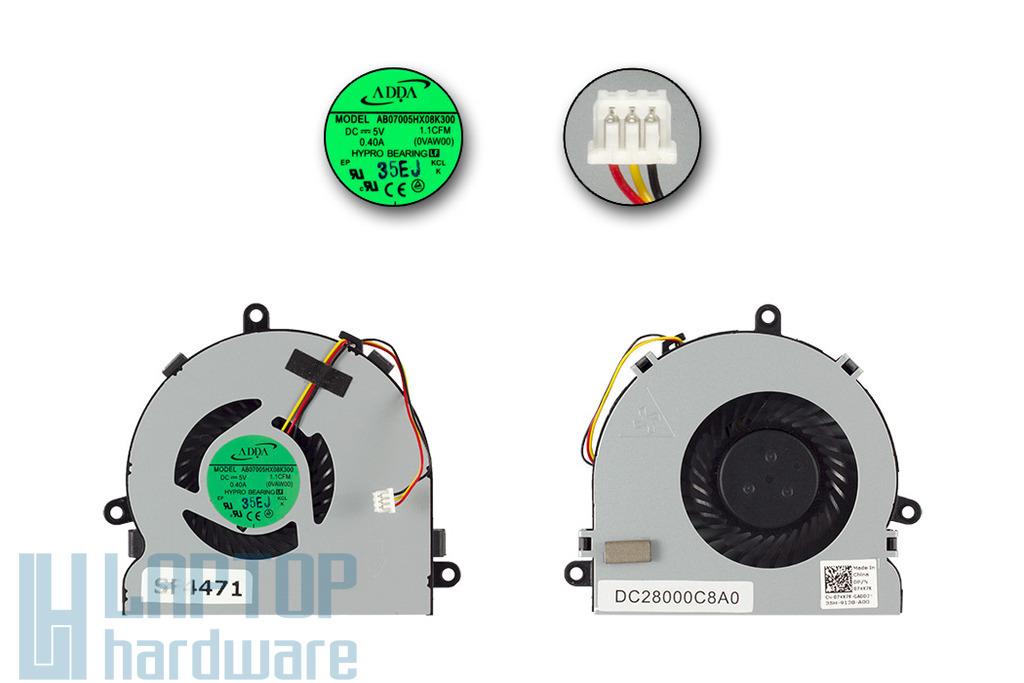 Dell Inspiron 3521, 5521, 5721 gyári új laptop hűtő ventilátor (074X7K)