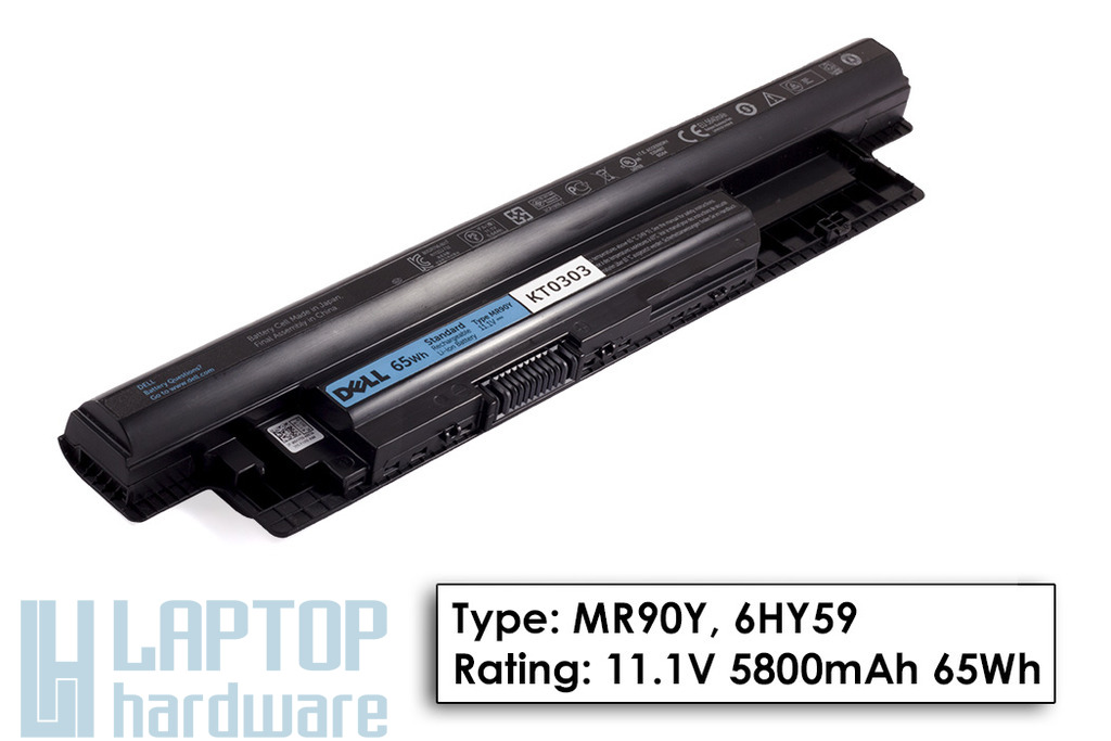 Dell Inspiron 5748, 5749 gyári új 65Wh laptop akkumulátor, TYPE MR90Y, DP/N: 06HY59