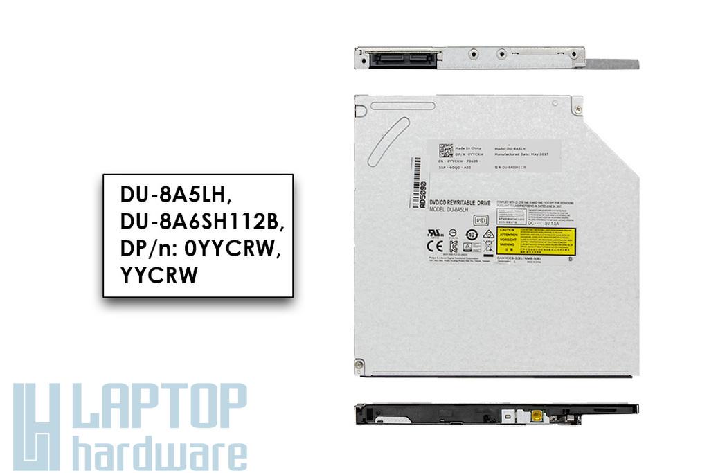 Dell Inspiron 3542, 3721, 5555, 5537 laptophoz gyári új SATA laptop DVD-író (9.5mm) (DU-8A5LH, DP/n: YYCRW)