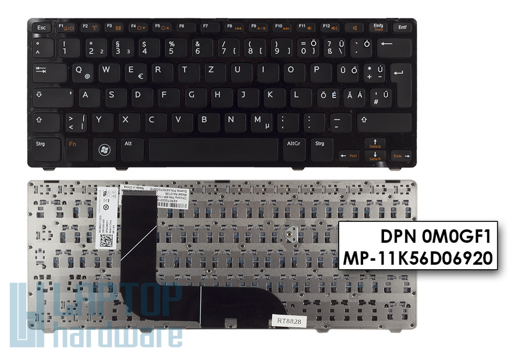 Dell Inspiron 5323, 5423, Vostro 3360 gyári új magyarított laptop billentyűzet (0M0GF1)