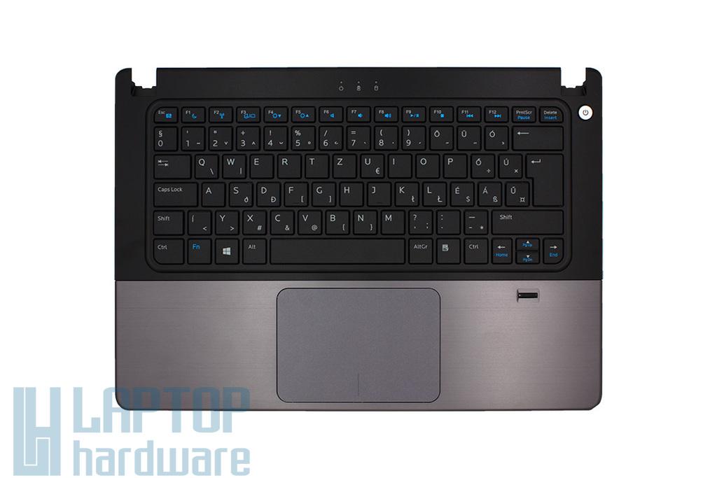 Dell Inspiron 5470 gyári új laptop magyar szürke-fekete billentyűzet modul touchpaddal és ujjlenyomat-olvasóval (0VR6CX, MP-12G76HU-920, AEJW8400010)