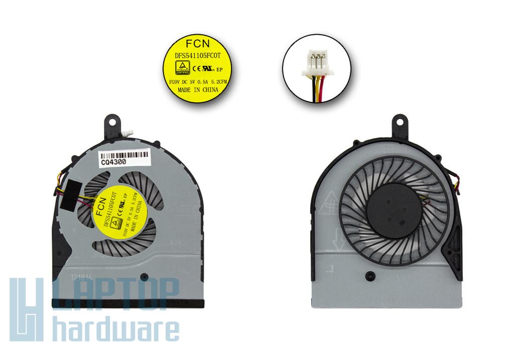 Dell Inspiron 5558, 5758, Vostro 3458, 3558 gyári új laptop hűtő ventilátor (DFS541105FC0T, FG9V)