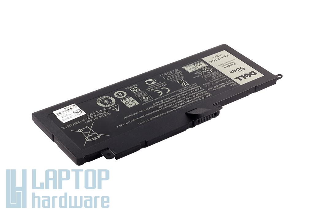Dell Inspiron 7537, 7737 gyári új 6 cellás 58Wh laptop akku/akkumulátor (TYPE F7HVR, G4YJM)