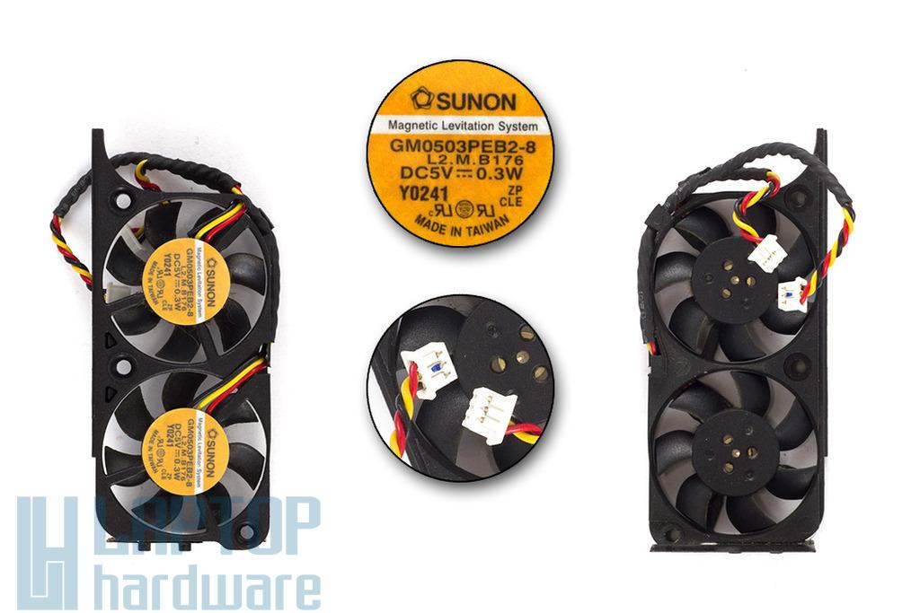 Dell Inspiron 8000, 8100, 8200 használt laptop hűtő ventilátor (GM0503PEB1-8, GM0503PEB2-8)