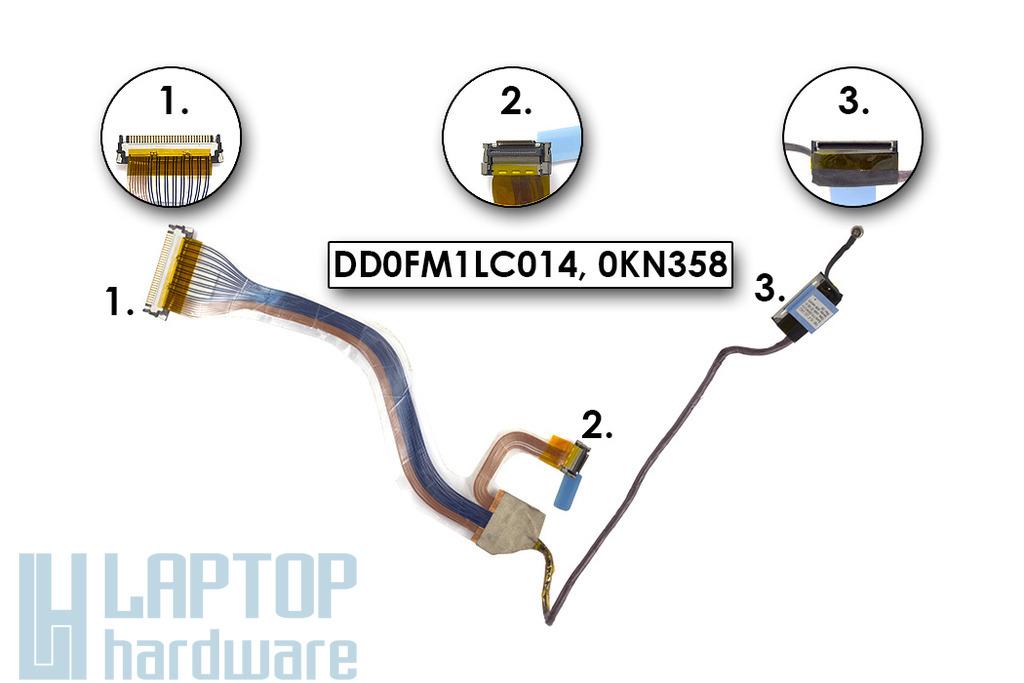Dell Inspiron E1505, 6400 laptophoz használt LCD kábel (15.4inch)(DD0FM1LC014)