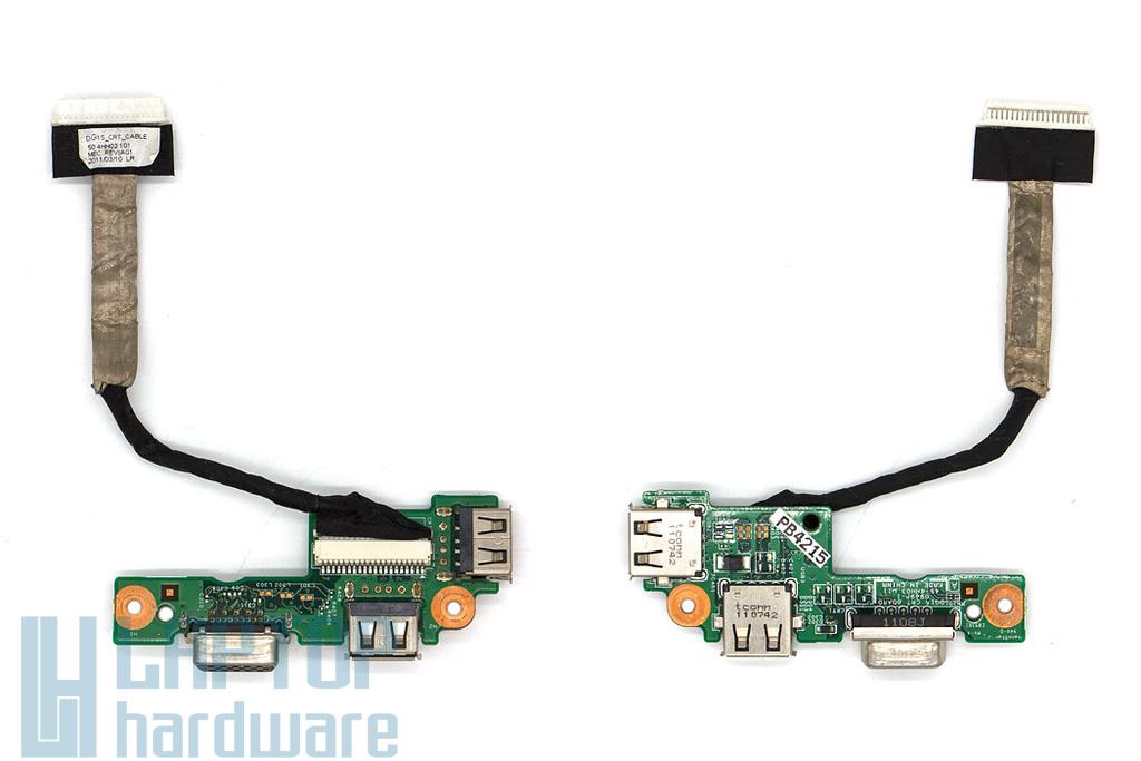 Dell Inspiron M5010, N5010 laptophoz használt VGA/USB panel kábellel (0FTCC3, 45.4HH03.011)