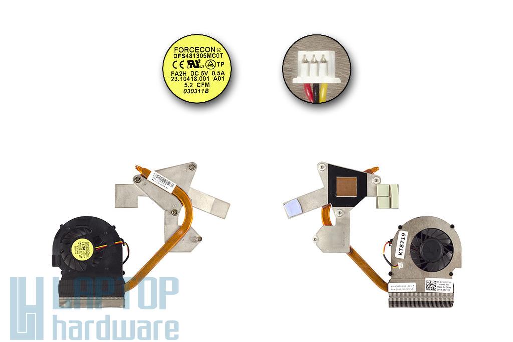 Dell Inspiron M5030 laptophoz használt komplett hűtő ventilátor egység (0FC1YF)